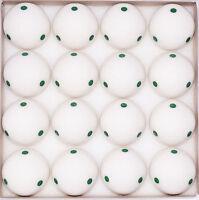 Box of 16 -  Green 6 Dot - Spot  Pool - Billiard Practice Training Cue Ball