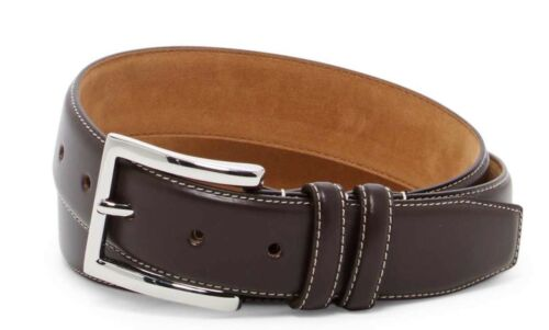 COLE HAAN BELT SMOOTH FEATHER EDGE BELT IN BROWN NEW W//TAGS SIZE 34