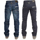 Mens Enzo Designer Regular Fit Straight Leg Jeans Pants brand Waist Size 28-42