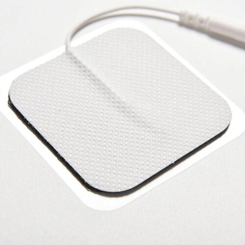 10X Tens Massager Elektroden Pads wiederverwendbare selbstklebende Gut D*