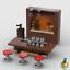Pub Beer Barrel /& Stools Saloon Tavern w// Wine Drink Glasses Lego Bar