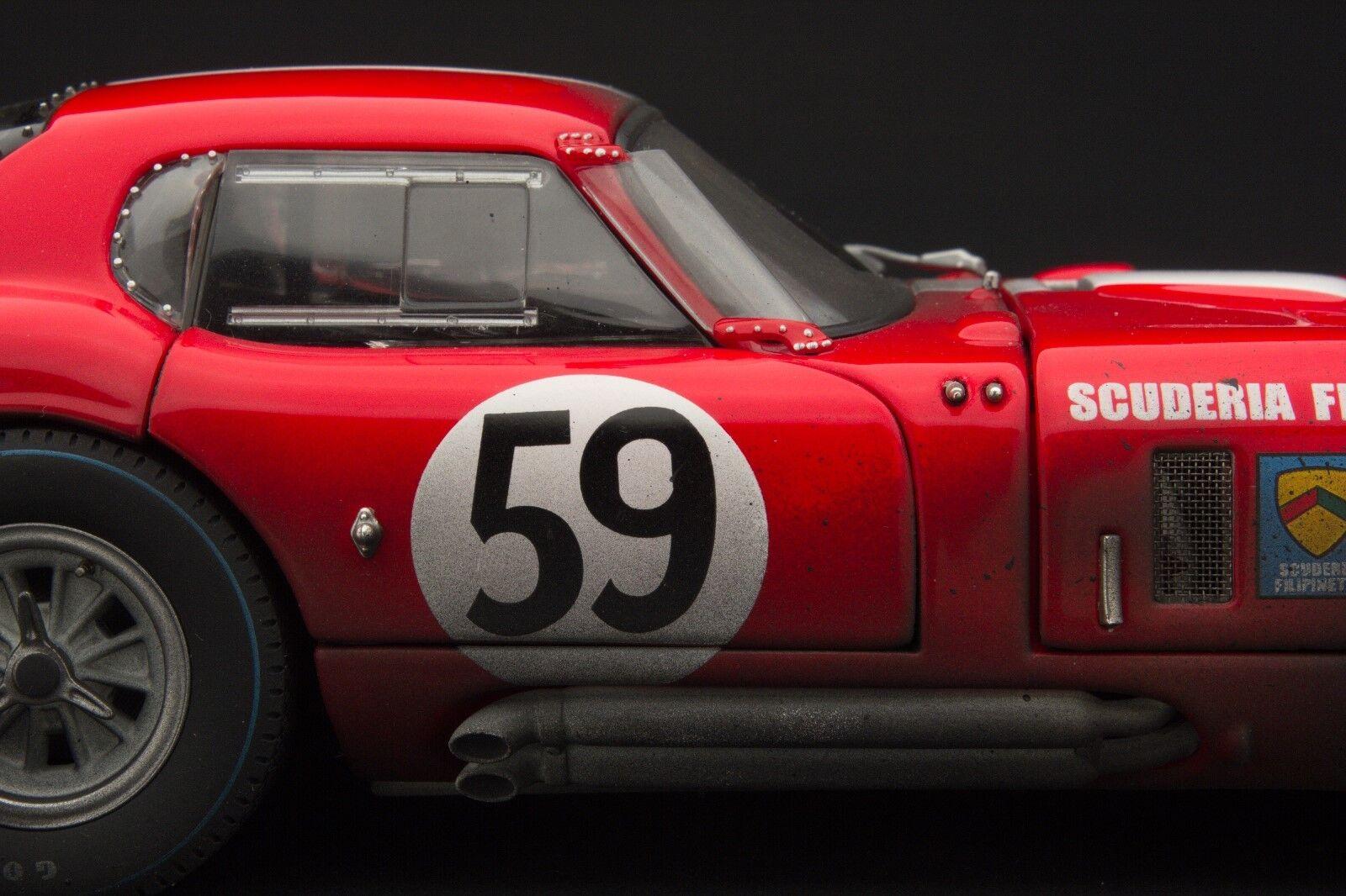 Course Patiné Exoto 1965 Filipinetti Cobra Daytona Lm 1 18  RLG18004BFLP