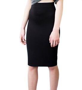d4a22469e Black Tube Skirt | Knee Length | Stretch School Pencil (Size UK 4 to ...