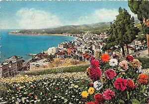 Cartolina-Postcard-Illustrata-Varazze-panorama-da-Levante-1951