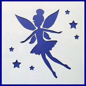 Details About Flexible Stencil Fairy Flying Stars Fantasy Card Making 10cm X 10cm