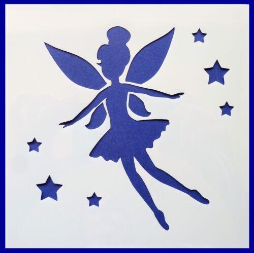 Flexible Stencil *FAIRY* Flying Stars Fantasy Card Making 10cm x 10cm