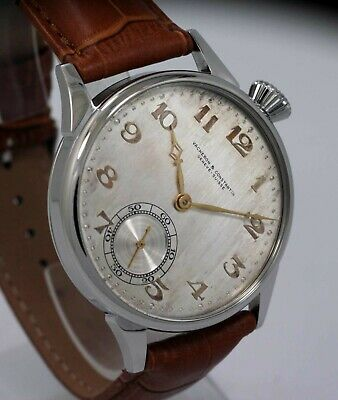 Vintage 1919 Vacheron Constantin 17 Jewels Wristwatch Marriage Man