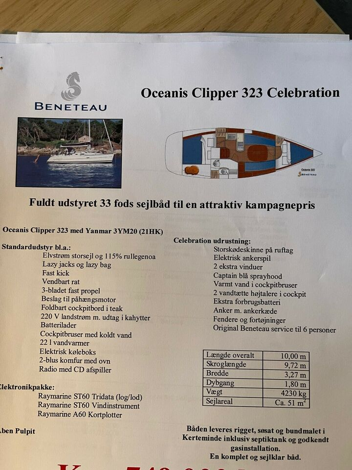 Beneteau Ocean Clipper 323 Celebration, årg. 2008, 33 fod