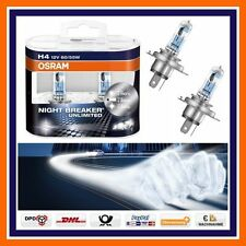 2X Osram H4 Nightbreaker Unlimited +110% plus de lumière 12V Feu de croisement/