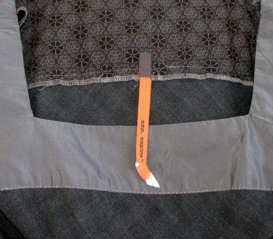COP COPINE - ROBE MANCHES KIMONO MODÈLE CANELLE CANELLE CANELLE grey & brown T 40 - COMME NEUVE c6255c
