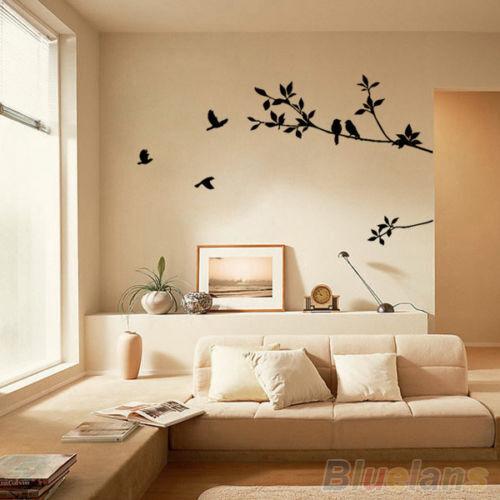 Funny Tree & Bird Removable Wall Art Sticker Vinyl Decal Home DIY Decor PVC B14U