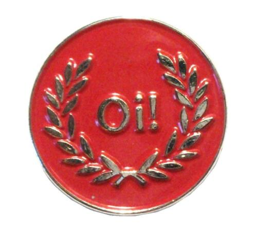Oi Red Silver /& Laurel Skinhead Scooter MOD Metal Scooterist Enamel Badge New