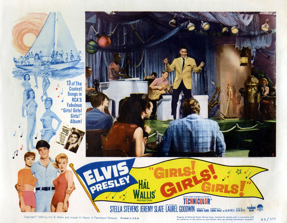 Classic Movie -Girls, Girls, Girls-Elvis Presley- 24 x36  Giclee Print on Canvas