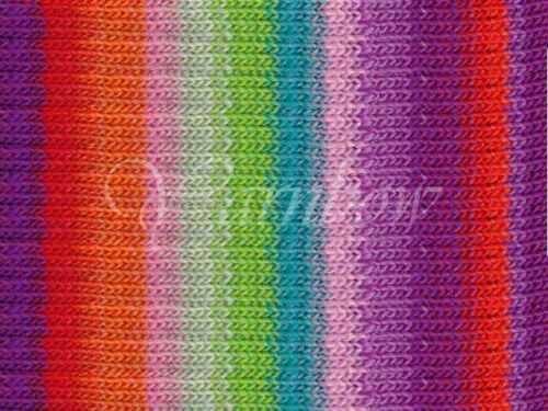 NORO :Kureyon #319: wool knitting yarn Violet-Red-Orange-Rose-Lime-Mint