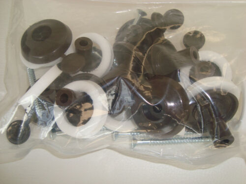 Brown Pk 10 for 25mm Polycarbonate Sheet Polycarbonate Fixing Buttons