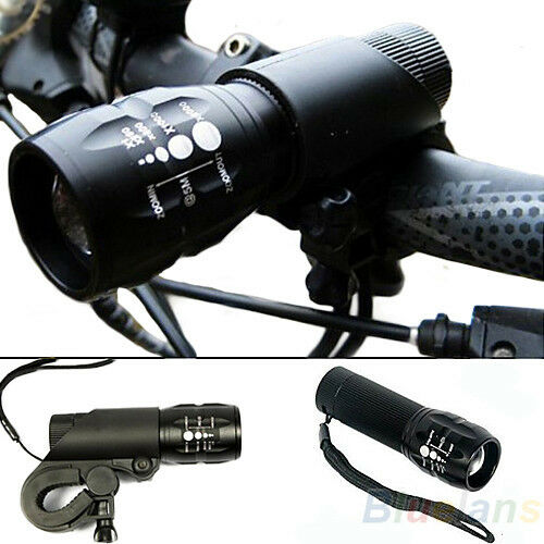 240 lumen Q5 Cycling Bike Bicycle LED Front HEAD LIGHT Torch LARM With Mount