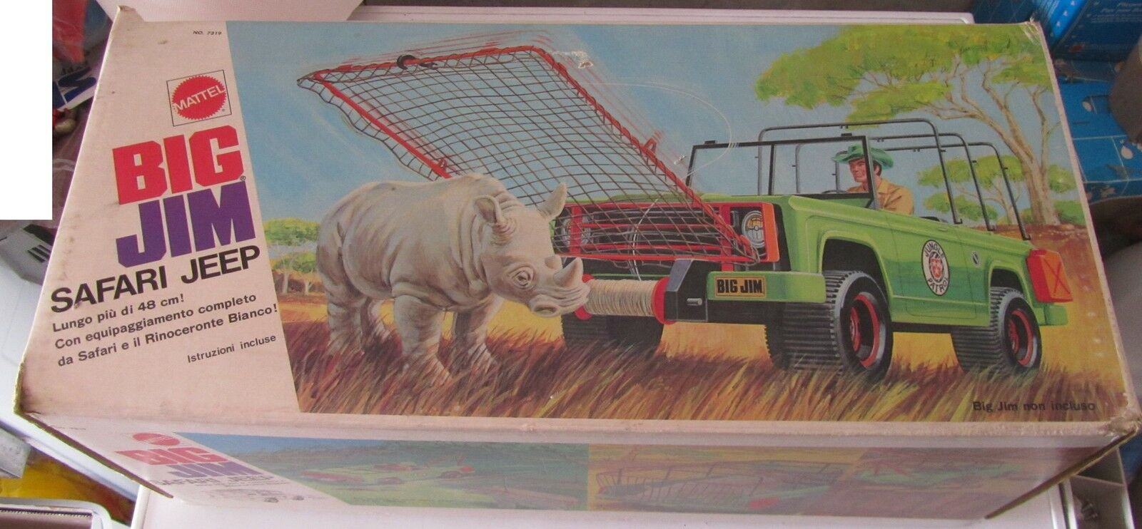 BIG JIM Safari Jeep Caccia al Rinoceronte Mattel 7319 SPESE GRATIS