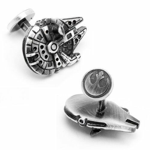 Cufflinks Novelty Superhero TV Movie Cuff Links * Star Wars Millenium Falcon *