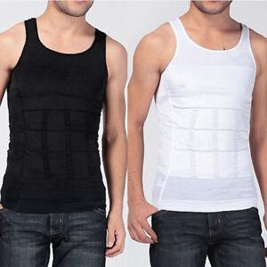 f46710c5c66ce Mens Slimming Body Shape Vest Shirt Tank Top Compression Shirt ...