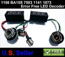 2x 1156 BA15S P21W 7503 Canbus Error Free LED Load Resistor Hyper Flash Decoder
