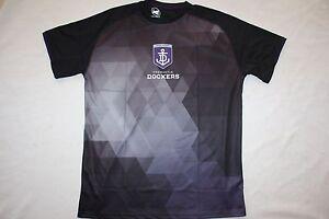 AFL-Fremantle-Dockers-Mens-Premium-Tech-T-shirt-Tee-2016-2017-sizes-M-only
