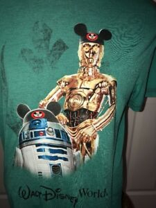 Disney Parks Disney World Star Wars C3po R2d2 Mickey Ear Hat T Shirt