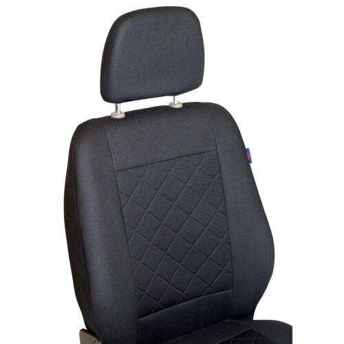 Intensif noire Sitzbezüge CITROEN JUMPY Set EXTRA fonction AUGABE ouverture