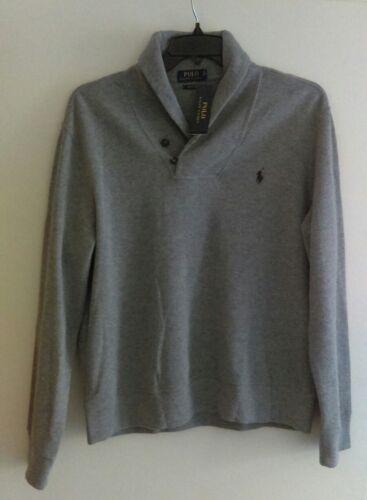 Polo Ralph Htr Estate Sweater L Cotton Rib Lauren Long G Men's Gray Size 712169514556 Sleeve ppwBrqd
