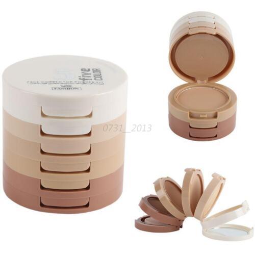 1 of 1 - 5Color Mineral Makeup Set Face Pressed Powder Palette Contour Shading Concealer