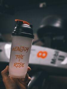 #EnjoyTheRide Noir et Orange 800 ml Flip Paille Charity Eau Bouteille BPA Libre