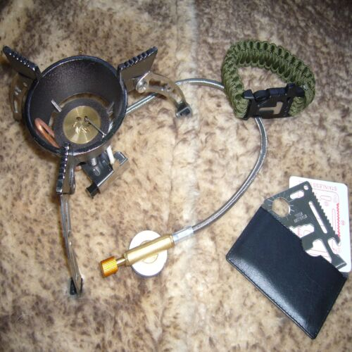HIGH PERFORMANCE STOVE /'Cyclone/' Lightweight Camping Gas Stove Free Gifts