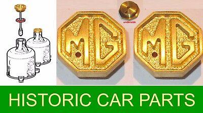"MG TC Midget 1945-50 H2 H4 SU Carb 2 X /""MG/"" Brass Ventilé Amortisseur Caps /& rondelles"