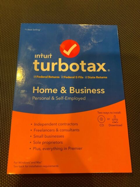 Turbotax 1 User Home Business Federal Efile For Mac Windows For Sale Online Ebay