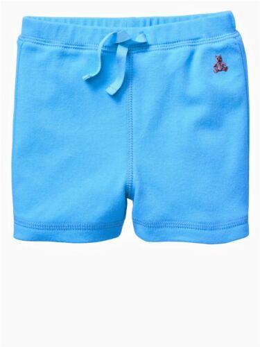 New baby Gap Boy Blue Orange Cotton Shorts Bottom Brannan bear Logo 3-18Months