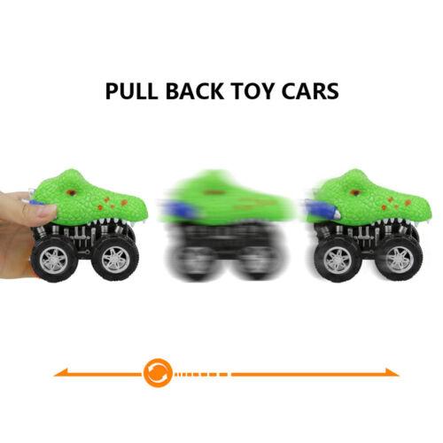Dinosaur Friction Powered Car Pull Back Vehicle Mini Animal Car Toy Kids Gifts