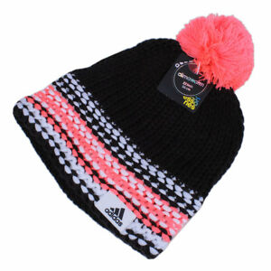 günstig elegante Schuhe klar in Sicht Details zu adidas Beanie Climawarm Mütze Strickmütze Bommel Wintersport  Damen schwarz-pink