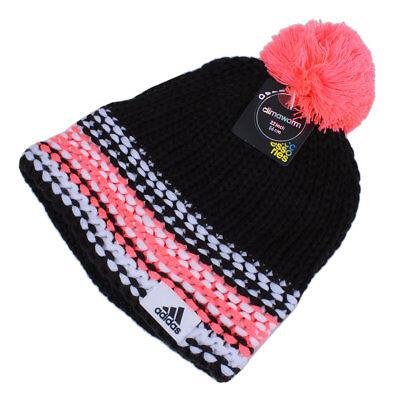 adidas Beanie Climawarm Mütze Strickmütze Bommel Wintersport Damen schwarz pink   eBay