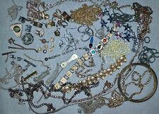 Junk Drawer Lot Jewelry Making Supplies Chain Earrings Bracelets for Crafting