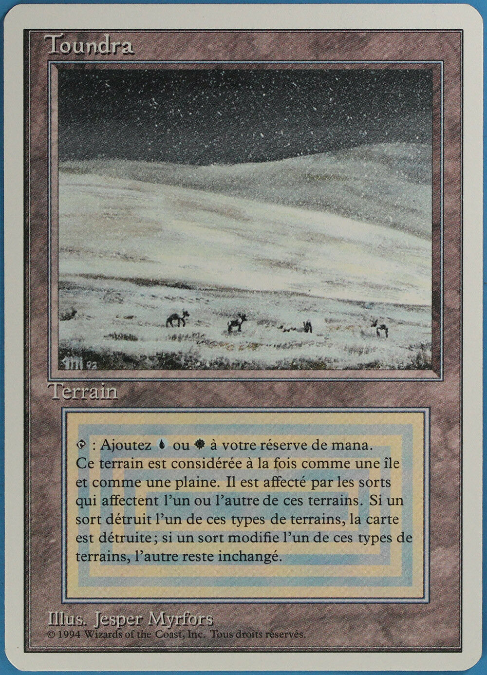 Tundra Revised (FRENCH WB) NM-M Dual Land Reserved List CARD (ID 42200) ABUGames