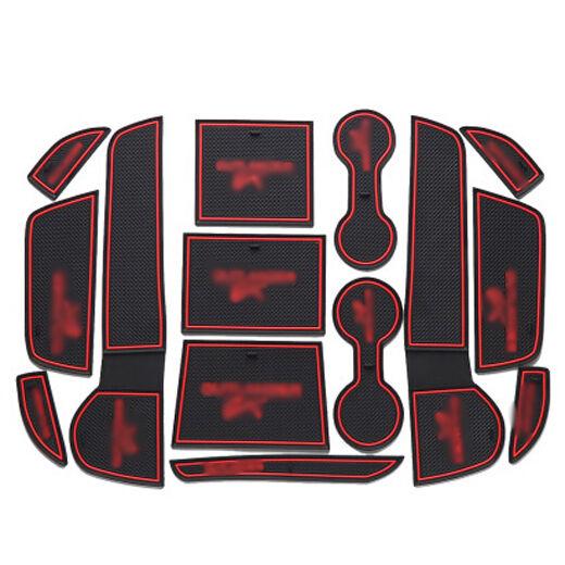 Interior Non-slip Door Cup Holder Rubber Mat Pad Dustproof For Outlander EX 2013