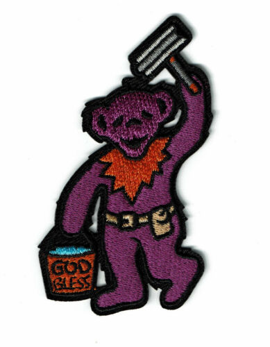 Cleaning Windows Squeegee Bear Patch Grateful Dead Dancing Begging Bears patches