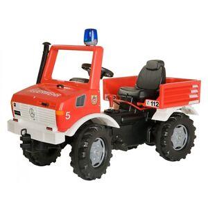 Rolly-Toys-rollyFire-Fire-Tret-Unimog-Schaltung-Blaulicht-Fahrzeug-Feuerwehr-rot