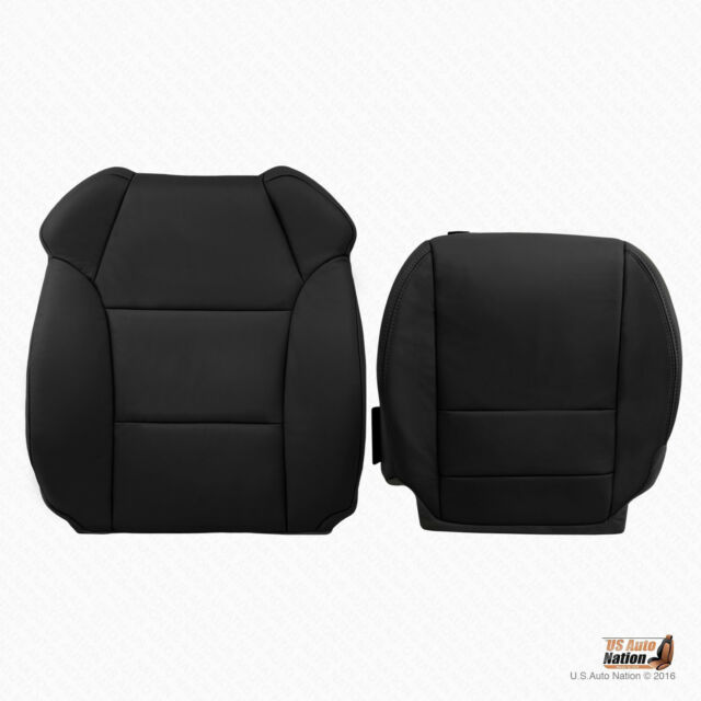 Driver Bottom & Top Black Leather Replacement Seat Cover