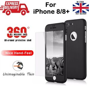 HARD-ULTRA-THIN-NEW-HYBRID-360-CASE-WITH-TEMPERED-GLASS-for-Apple-iPhone-8