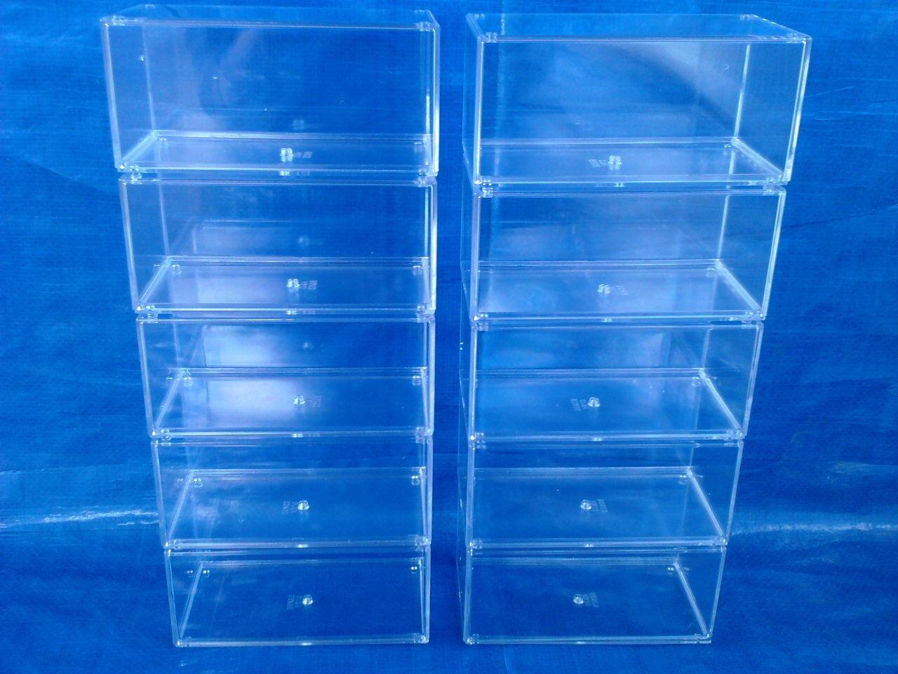 10x Acrylique Transparent Boîte de présentation voiture miniature f1 wrc