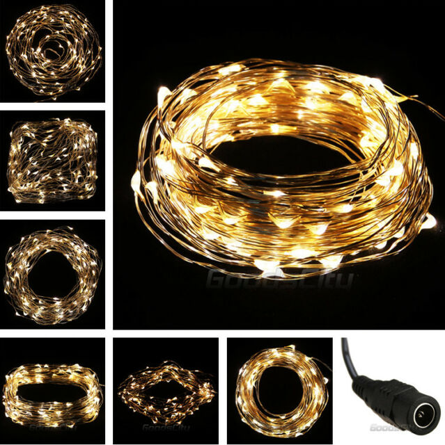 Warm White 10M/33FT 100LED Copper Wire String Party Decoration Fairy Light