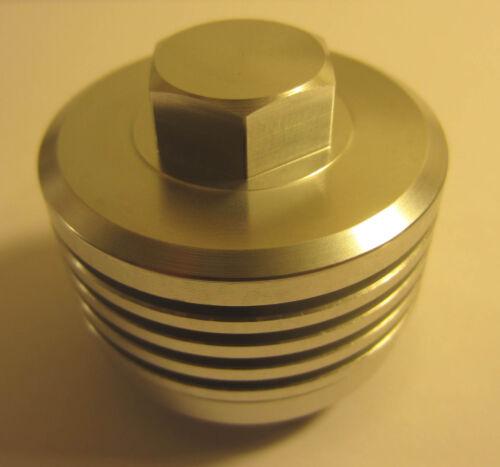 Finned Valve Cap, SILVER - HONDA CB350 CB550 CB350F CB400F CB750 CT90 CT70 Z50A
