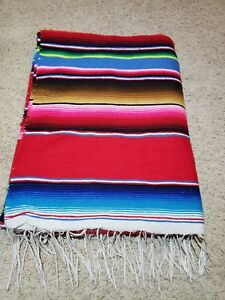 Details About Mexican Se Blanket Throw Rug 61 X 84