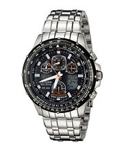 Citizen Eco Drive Men's Skyhawk A-T Chronograph Black Ion Watch JY0000-53E
