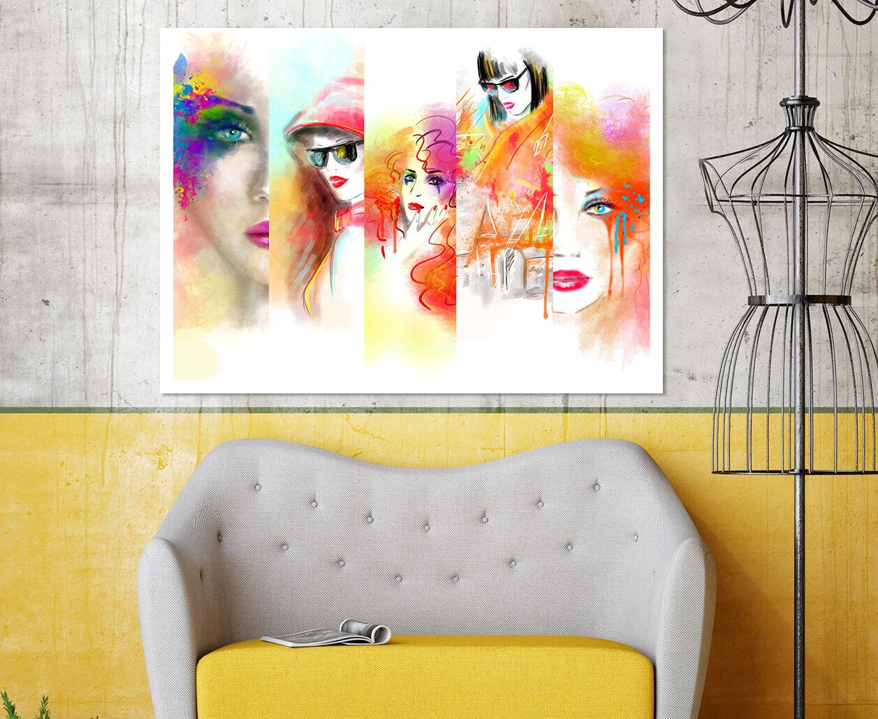 3D Farbmalerei Schöne Frau 966 Fototapeten Wandbild BildTapete AJSTORE DE Lemon
